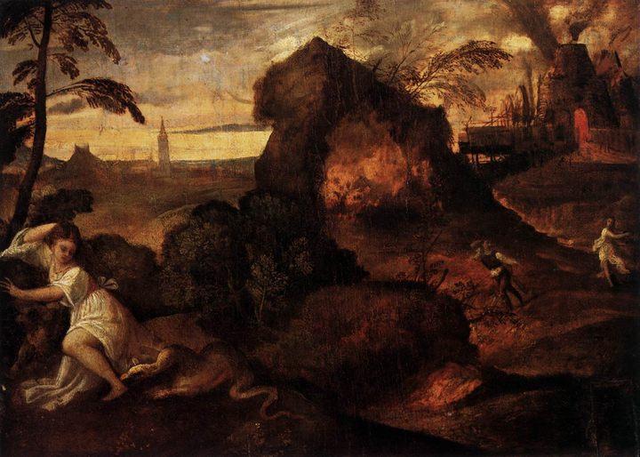 картина Орфей и Эвридика :: Тициан Вачелио, описание картины - Tiziano Veccellio (Тициан) фото