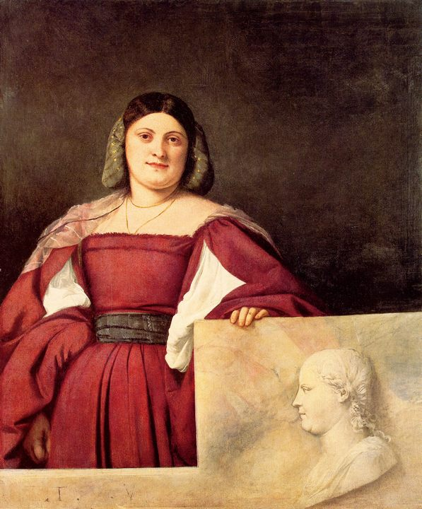 Портрет женщины :: Тициан Вачелио, описание картины - Tiziano Veccellio фото