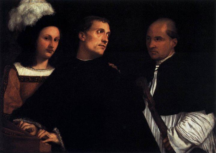 Концерт :: Тициан Вачелио, описание картины - Tiziano Veccellio (Тициан) фото