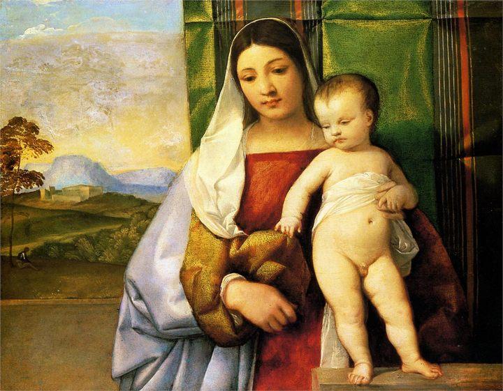 Цыганская Мадонна :: Тициан Вачелио, картина - Tiziano Veccellio (Тициан) фото