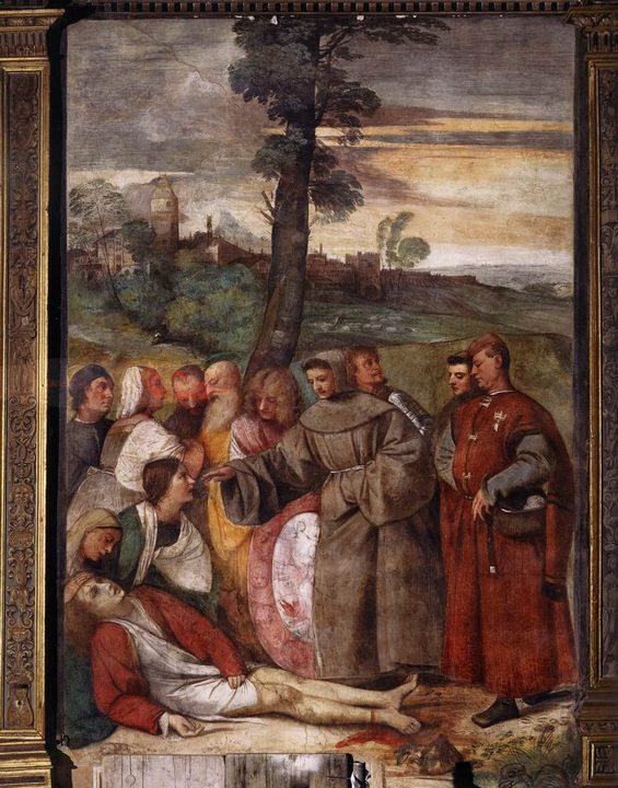 Исцеление гневного сына :: Тициан Вачелио - Tiziano Veccellio (Тициан) фото
