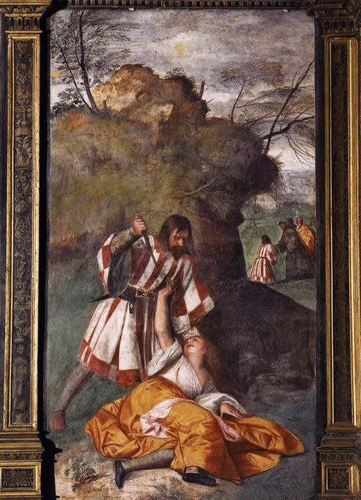 Ревнивый муж (Чудо ревнивого мужа) :: Тициан Вачелио - Tiziano Veccellio (Тициан) фото