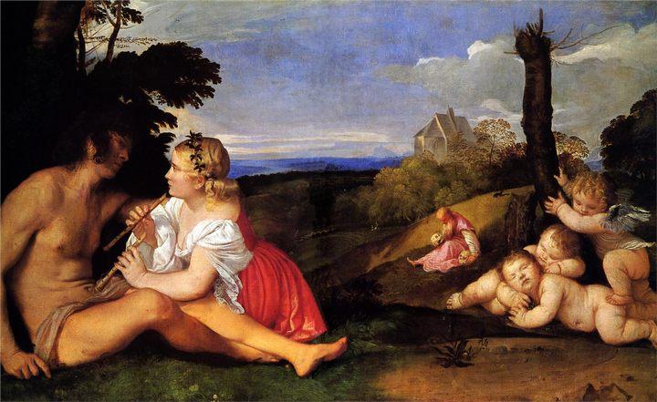 Три возраста человека :: Тициан Вачелио - Tiziano Veccellio (Тициан) фото