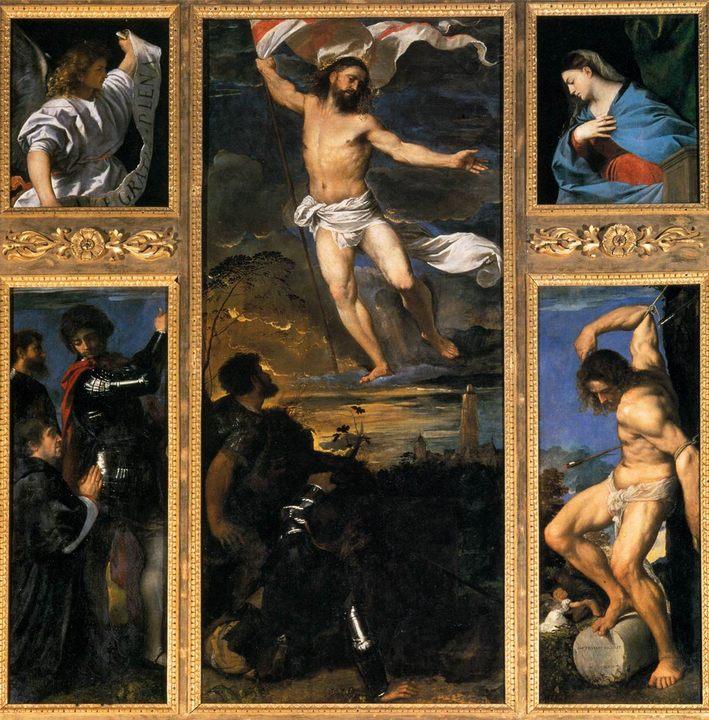 Полиптих Воскресение :: Тициан Вачелио - Tiziano Veccellio фото