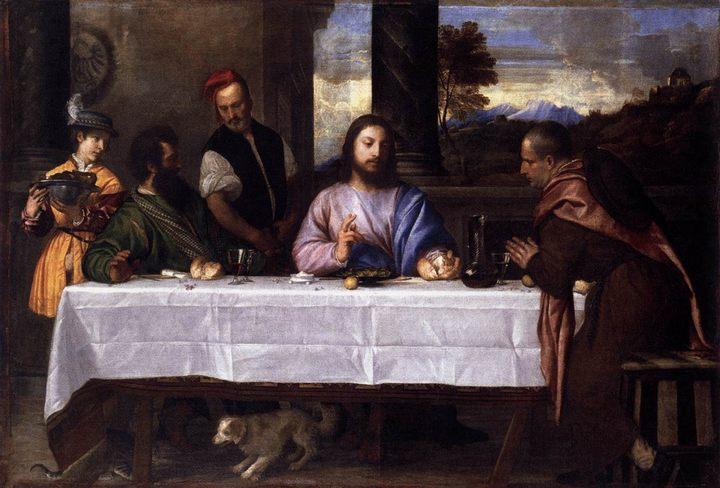 картина Ужин в Эммаусе :: Тициан Вачелио - Tiziano Veccellio (Тициан) фото