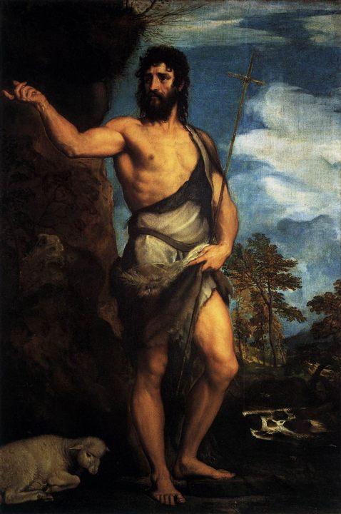 Св. Иоанн Креститель в пустыне :: Тициан Вачелио - Tiziano Veccellio (Тициан) фото