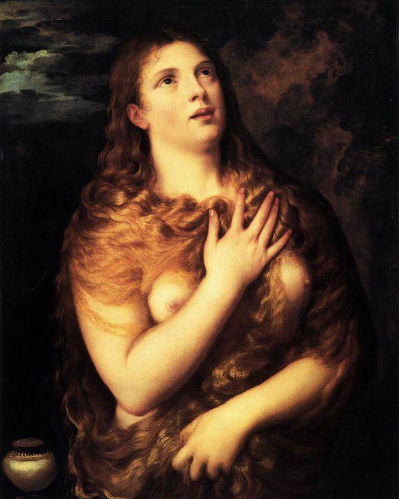 картина Св. Мария Магдалина :: Тициан Вачелио - Tiziano Veccellio (Тициан) фото