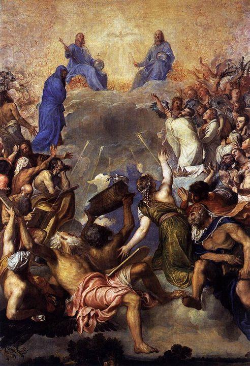 картина Троица во славе :: Тициан Вачелио - Tiziano Veccellio фото