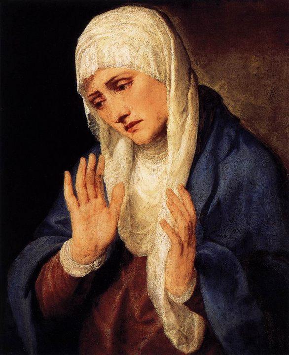 картина Скорбящая мать :: Тициан Вачелио - Tiziano Veccellio (Тициан) фото