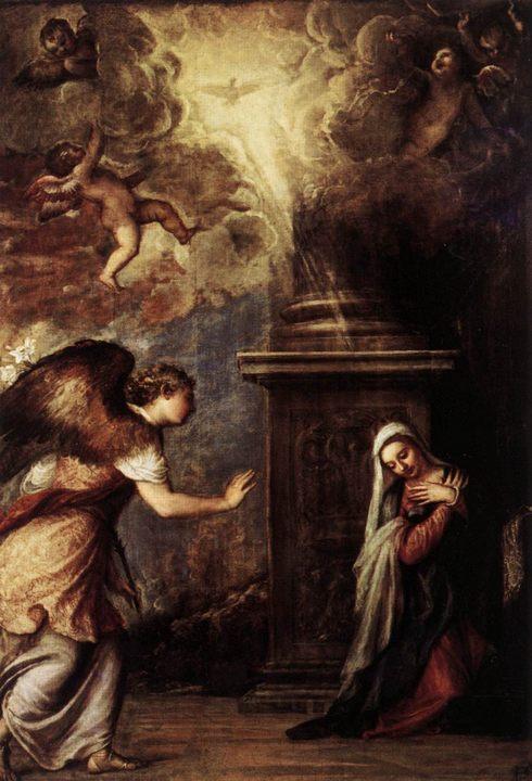 картина Благовещение :: Тициан Вачелио - Tiziano Veccellio фото