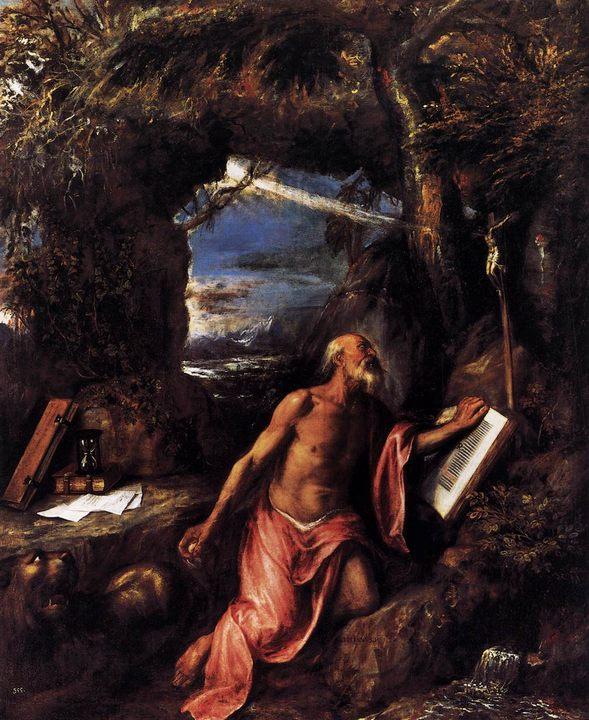 Св. Джером, описание картины :: Тициан Вачелио - Tiziano Veccellio фото
