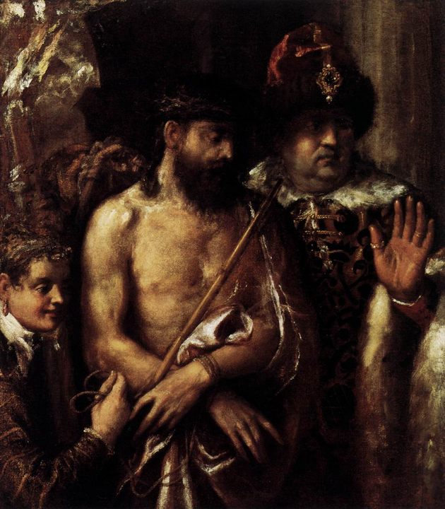 Осмеяние (Поругание) Христа, описание картины :: Тициан Вачелио - Tiziano Veccellio фото