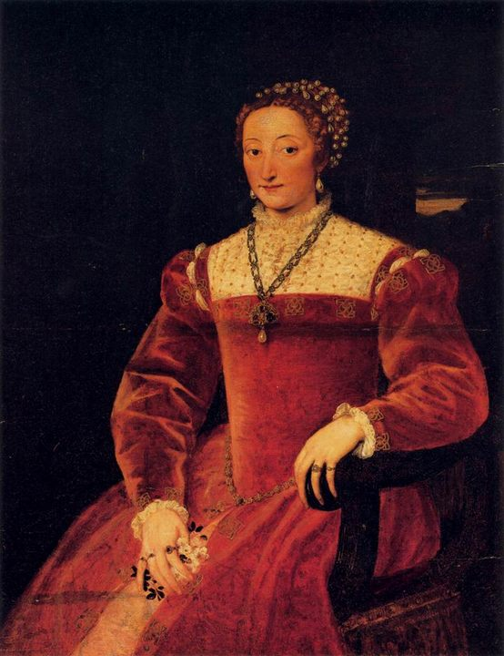 женский портрет Джулия Варано, герцогиня Урбино :: Тициан - Tiziano Veccellio фото