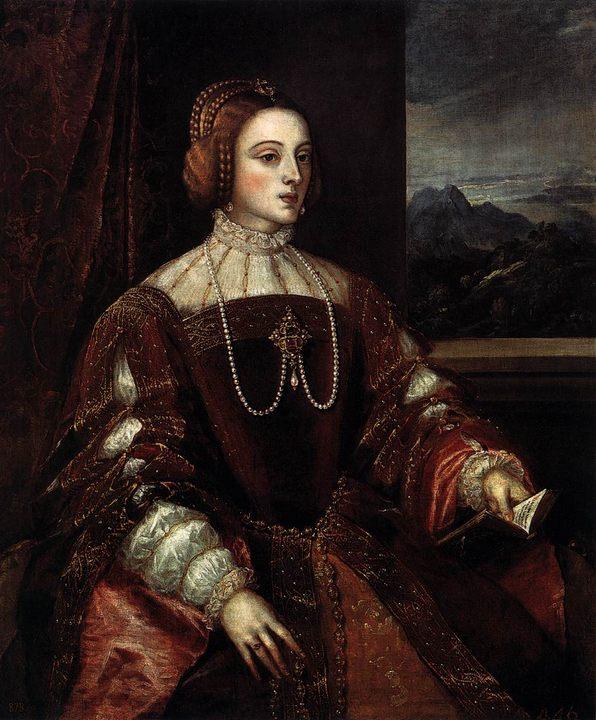 Портрет Изабеллы Португальской :: Тициан Вачелио - Tiziano Veccellio (Тициан) фото