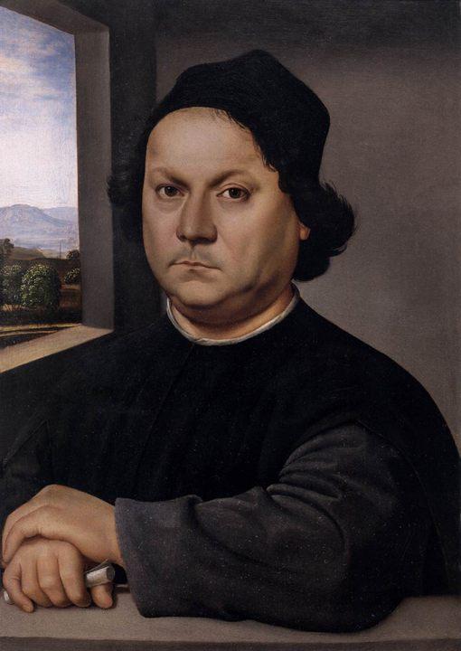 Портрет мужщины :: Рафаэль Санти, описание картины - Raffaello Santi фото