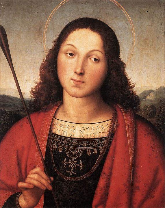Св. Себастьян :: Рафаэль Санти, описание картины - Raffaello Santi фото