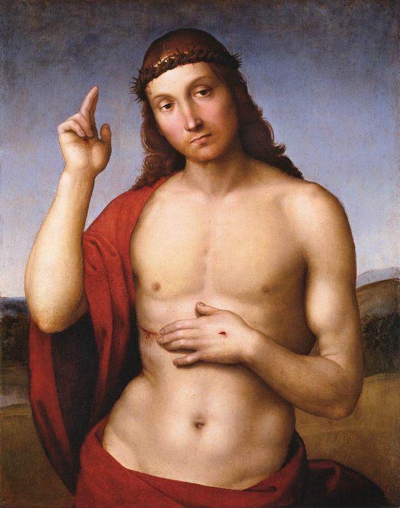 Благословение Христа (Pax Vobiscum) :: Рафаэль Санти, описание картины - Raffaello Santi фото