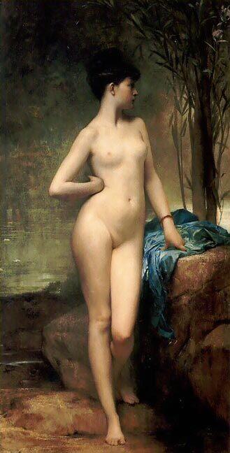 Хлоя :: Жюль Жозеф Лефевр, картина ню, эротика в живописи - Картины ню, эротика в шедеврах живописи фото