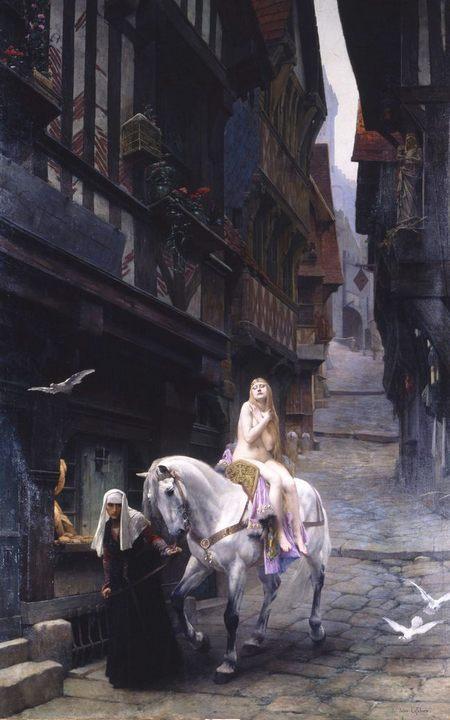Леди Годива :: Жюль Жозеф Лефевр - Картины ню, эротика в шедеврах живописи фото