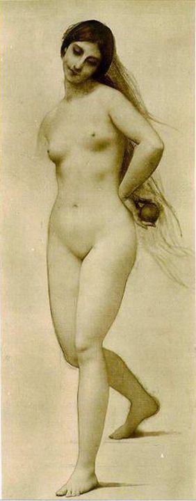 Ева, набросок :: Жюль Жозеф Лефевр - Картины ню, эротика в шедеврах живописи фото