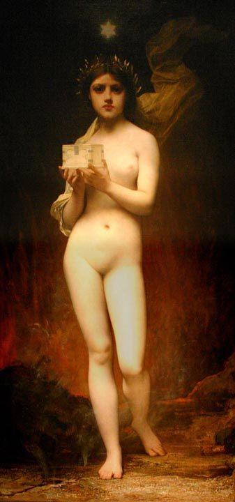 Пандора :: Жюль Жозеф Лефевр - Картины ню, эротика в шедеврах живописи фото
