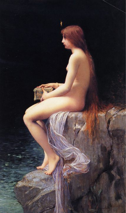 Пандора (Pandora) :: Жюль Жозеф Лефевр  - Картины ню, эротика в шедеврах живописи фото