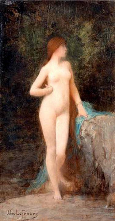 Хлоя (набросок) :: Жюль Жозеф Лефевр - Картины ню, эротика в шедеврах живописи фото