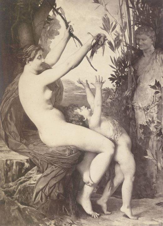 Нимфа и Бахус :: Жюль Жозеф Лефевр  - Картины ню, эротика в шедеврах живописи фото