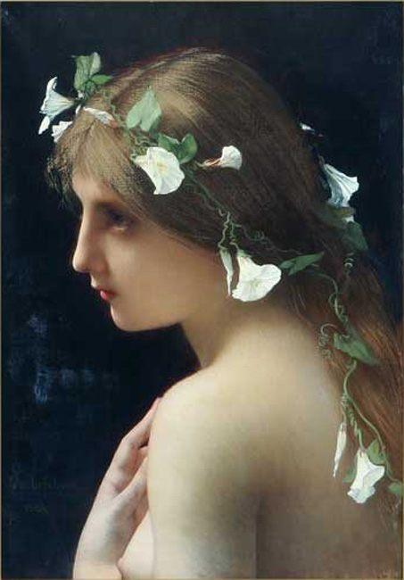 Нимфа с венком из цветов :: Жюль Жозеф Лефевр  - Картины ню, эротика в шедеврах живописи фото