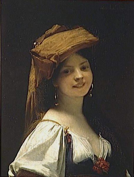женский портрет Молодой смех :: Жюль Жозеф Лефевр  - Портреты фото