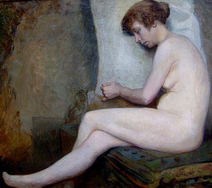 Сюзанна (незавершенный) :: Жюль Жозеф Лефевр  - Картины ню, эротика в шедеврах живописи фото