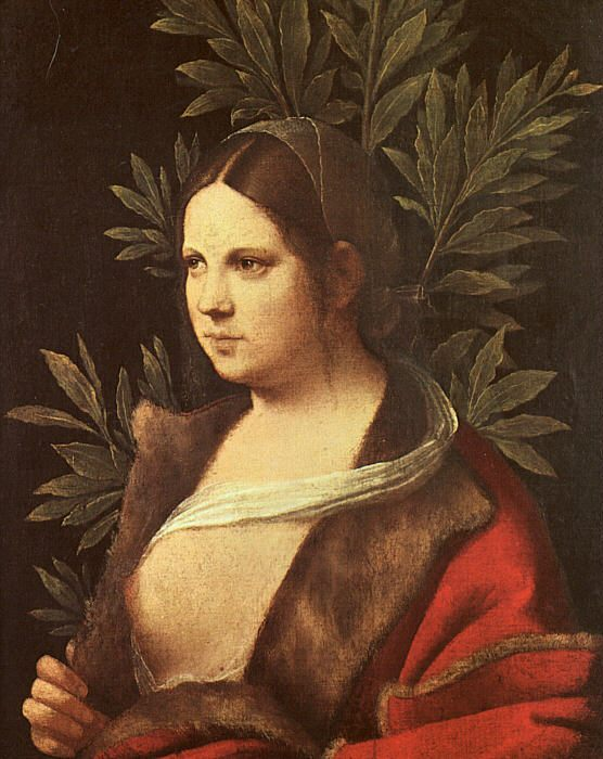 Лаура (женский портрет) :: Джоржоне - Картины ню, эротика в шедеврах живописи фото