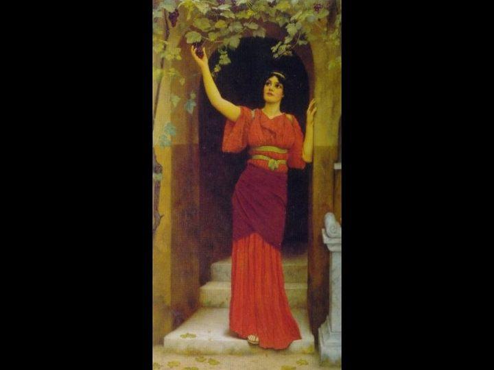 Молодая женщина с лозой :: Джон Уильям Годвард - Древний Рим и Греция, Египет фото