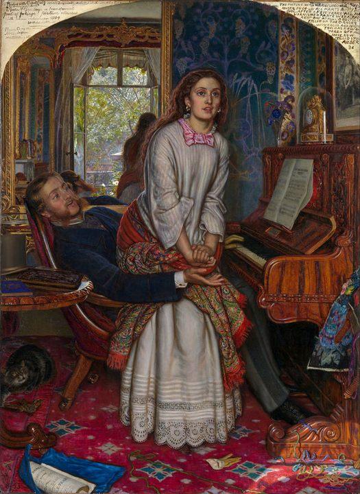 Просыпающаяся совесть (1853) :: Уильям Холман Хант - Романтические сюжеты в живописи фото