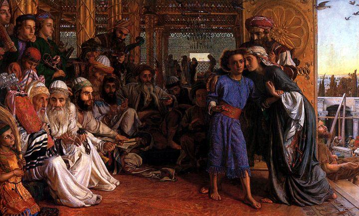 Нахождение Спасителя во Храме :: Уильям Холман Хант - Религиозные сюжеты в живописи фото