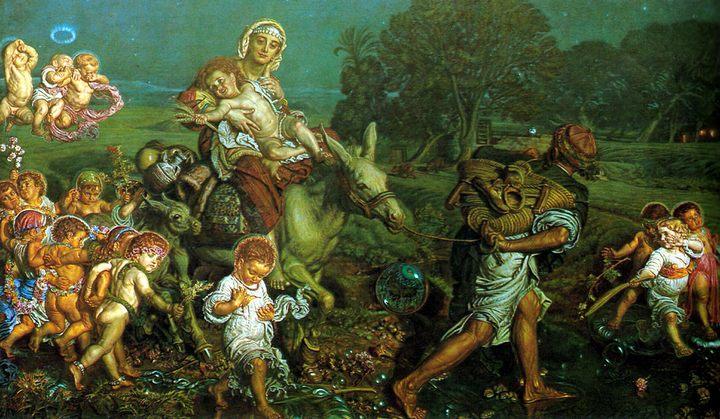Триумф невинных :: Уильям Холман Хант - Религиозные сюжеты в живописи фото