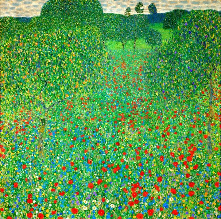 картина Маковое поле :: Густав Климт - Gustav Klimt фото