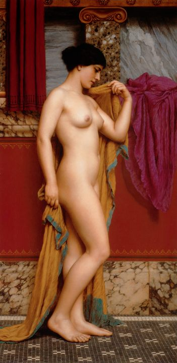 В терпидариуме :: Джон Уильям Годвард, картина ню - Картины ню, эротика в шедеврах живописи фото