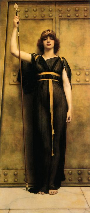 Жрица (A Priestess) :: Джон Уильям Годвард - Древний Рим и Греция, Египет фото