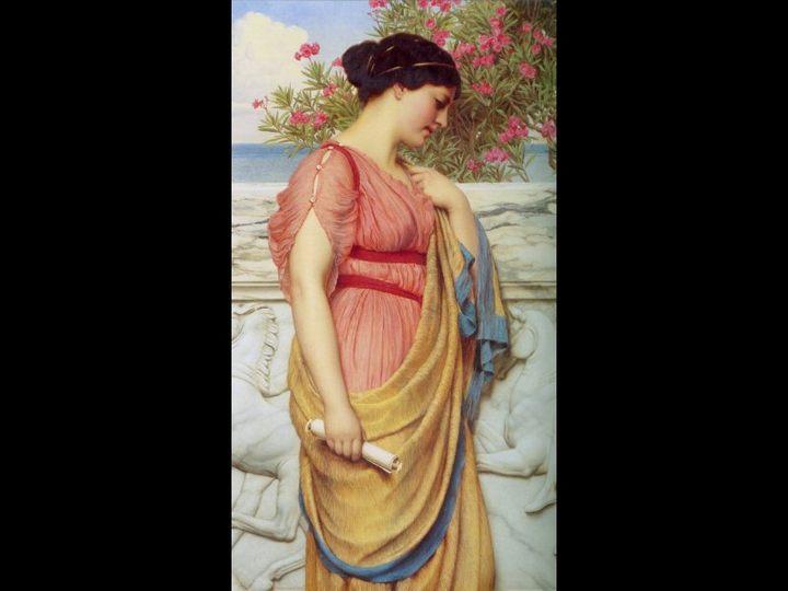 Сапфо (Sappho) :: Джон Уильям Годвард - Древний Рим и Греция, Египет фото