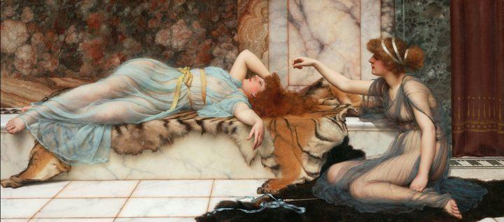 Вред и отдых (Mischief and Repose) :: Джон Уильям Годвард - Древний Рим и Греция, Египет фото