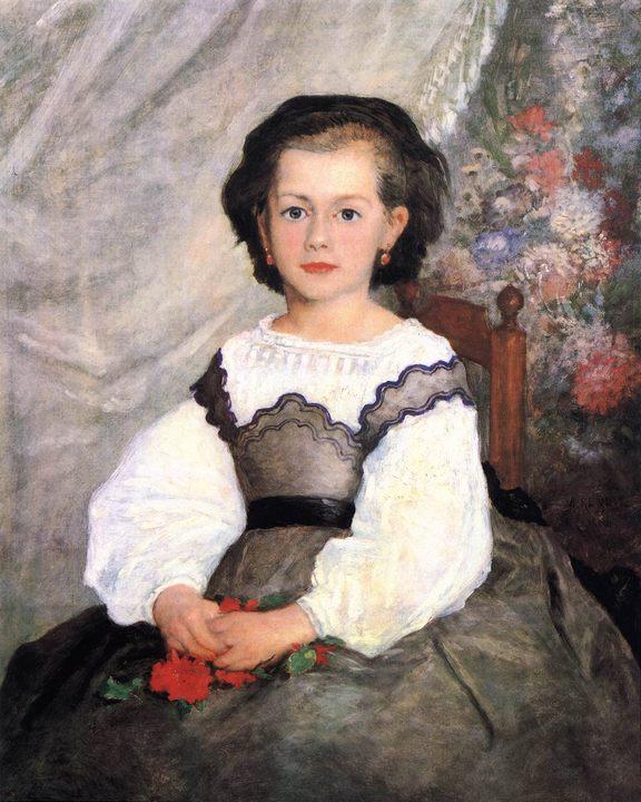Мадемуазель Ромэн Лако :: Ренуар Пьер Огюст - Pierre-Auguste Renoir фото