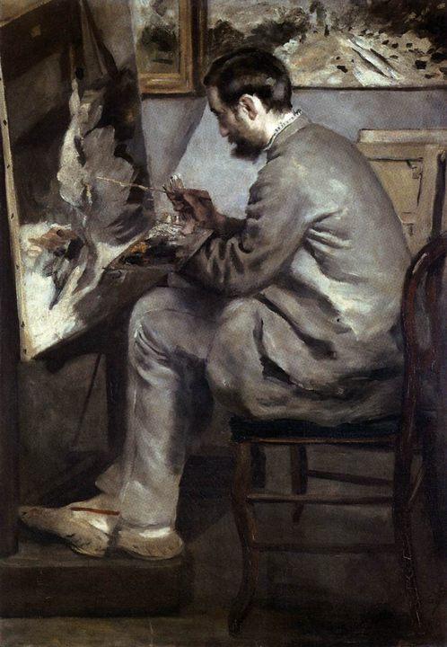 Фредерик Базиль за мольбертом :: Ренуар Пьер Огюст - Pierre-Auguste Renoir фото