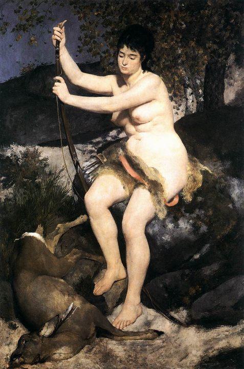 Диана-охотница :: Ренуар Пьер Огюст - Античная мифология фото