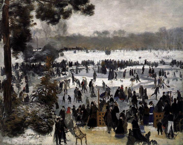 Катающиеся в Булонском лесу :: Ренуар Пьер Огюст - Pierre-Auguste Renoir фото