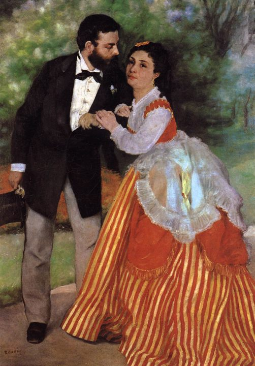 картина Помолвленная пара :: Ренуар Пьер Огюст - Pierre-Auguste Renoir фото