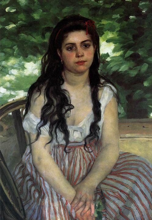 картина Лето (Девушка-цыганка) :: Ренуар Пьер Огюст - Pierre-Auguste Renoir фото