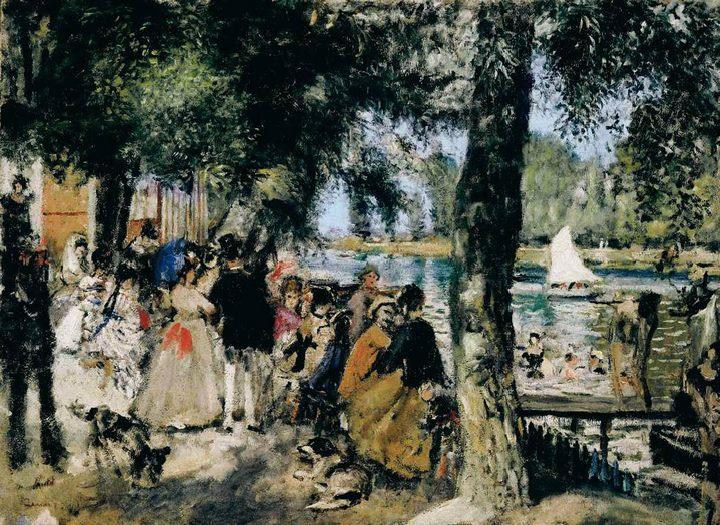 картина Лягушатник :: Ренуар Пьер Огюст - Pierre-Auguste Renoir фото
