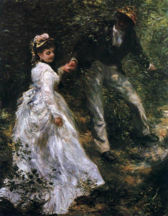 картина Прогулка :: Ренуар Пьер Огюст - Pierre-Auguste Renoir фото