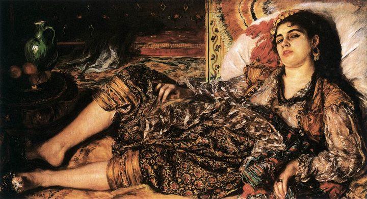 «Одалиска» (Алжирская женщина) :: Ренуар Пьер Огюст - Pierre-Auguste Renoir фото